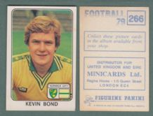 Norwich City Kevin Bond 266